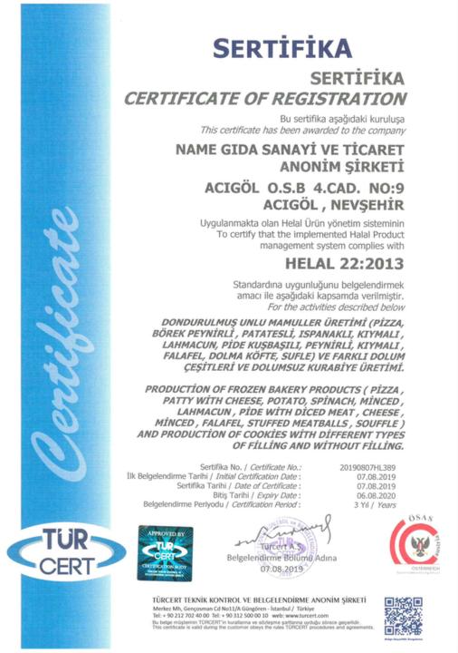Helal sertifikası